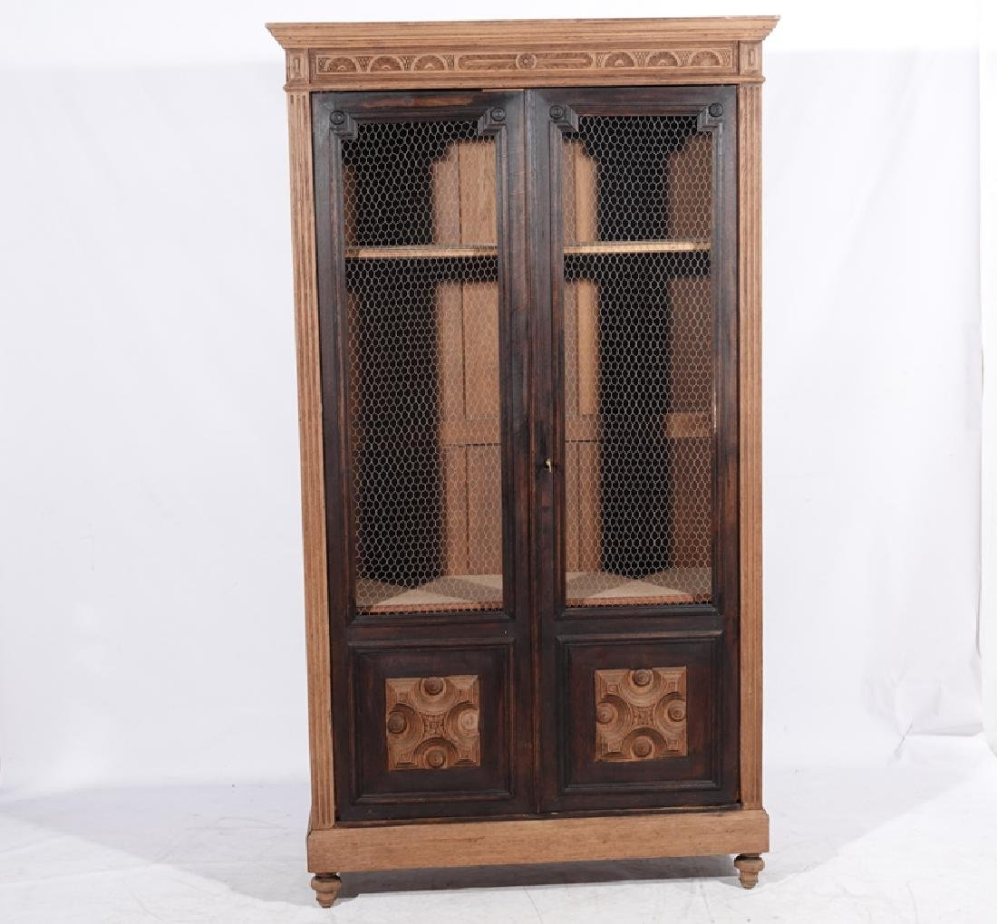 French Provincial Style Oak Biblioteque - 8