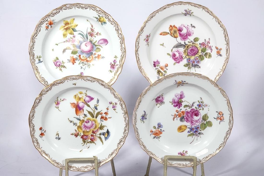 Set of Four MEISSEN Dessert Plates - 2