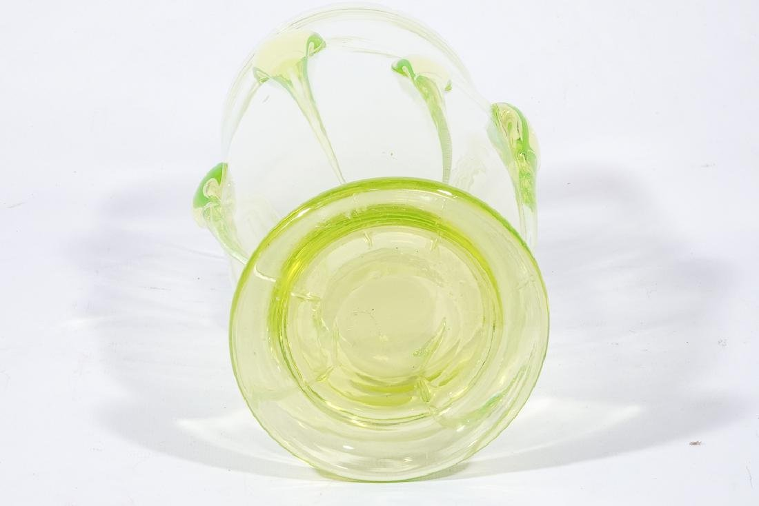 Modernist Green Glass Vase - 3