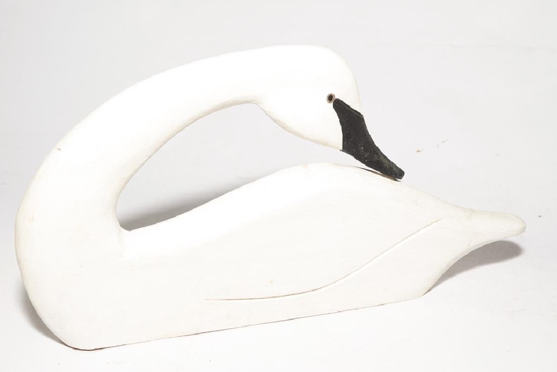 Set of Three (3) J DUDLEY Carved Swans - 2