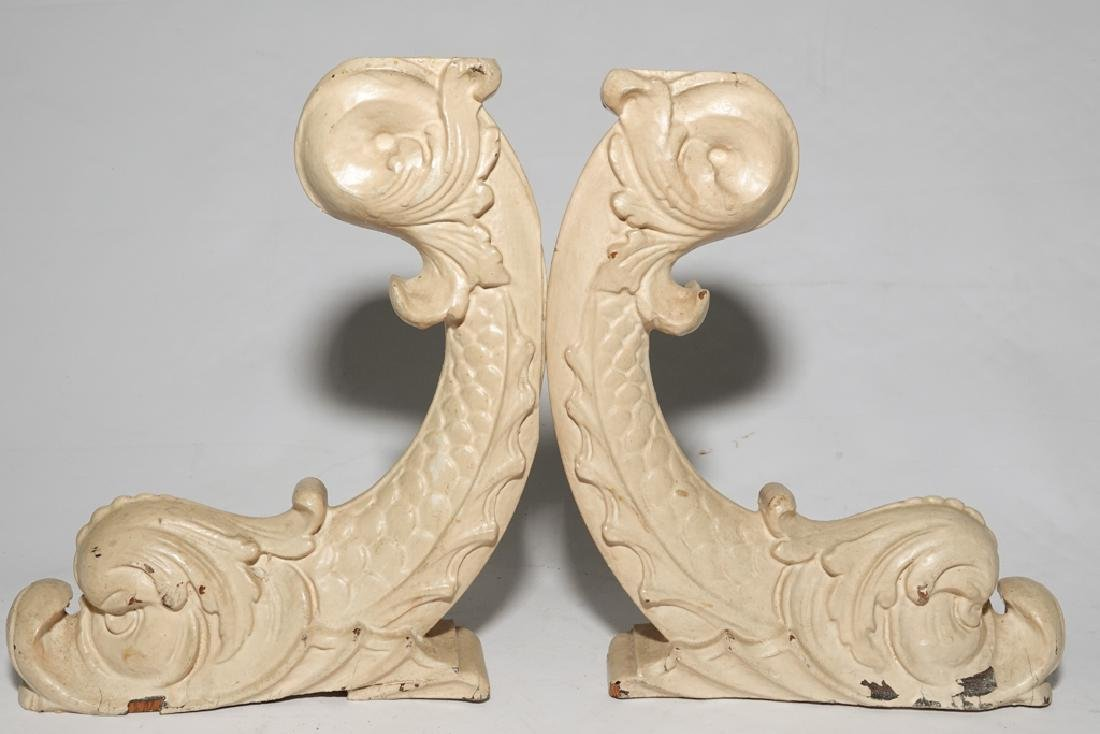 Vintage Dolphin Corbels - 3