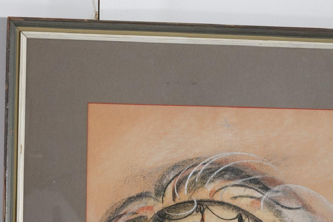 American School, Modernist Chalk Drawing - 2