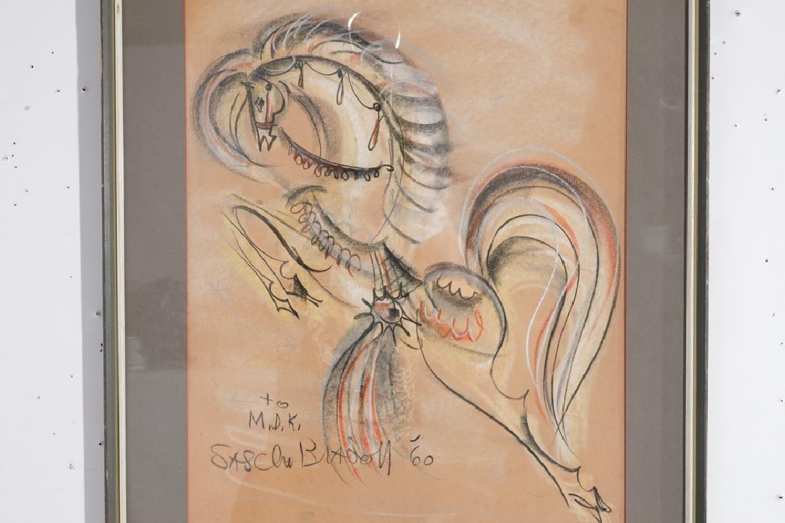 American School, Modernist Chalk Drawing - 5