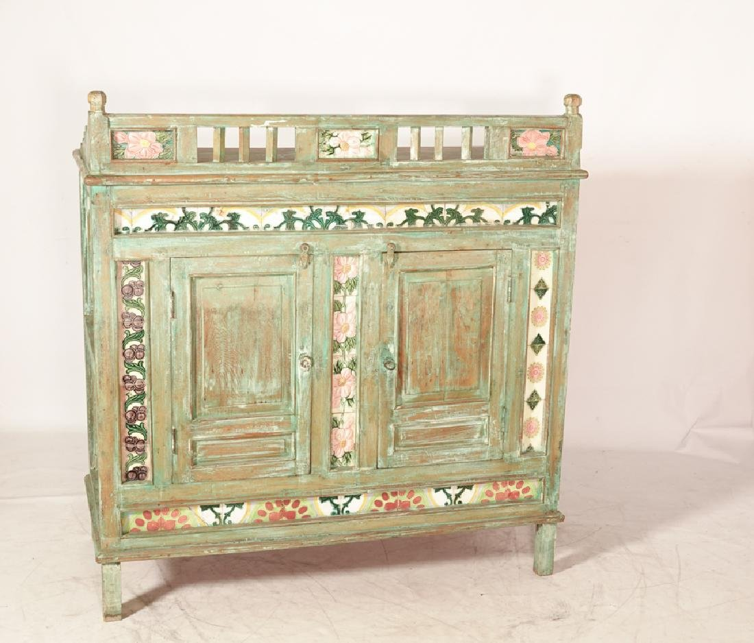 Mexican Painted Cabinet