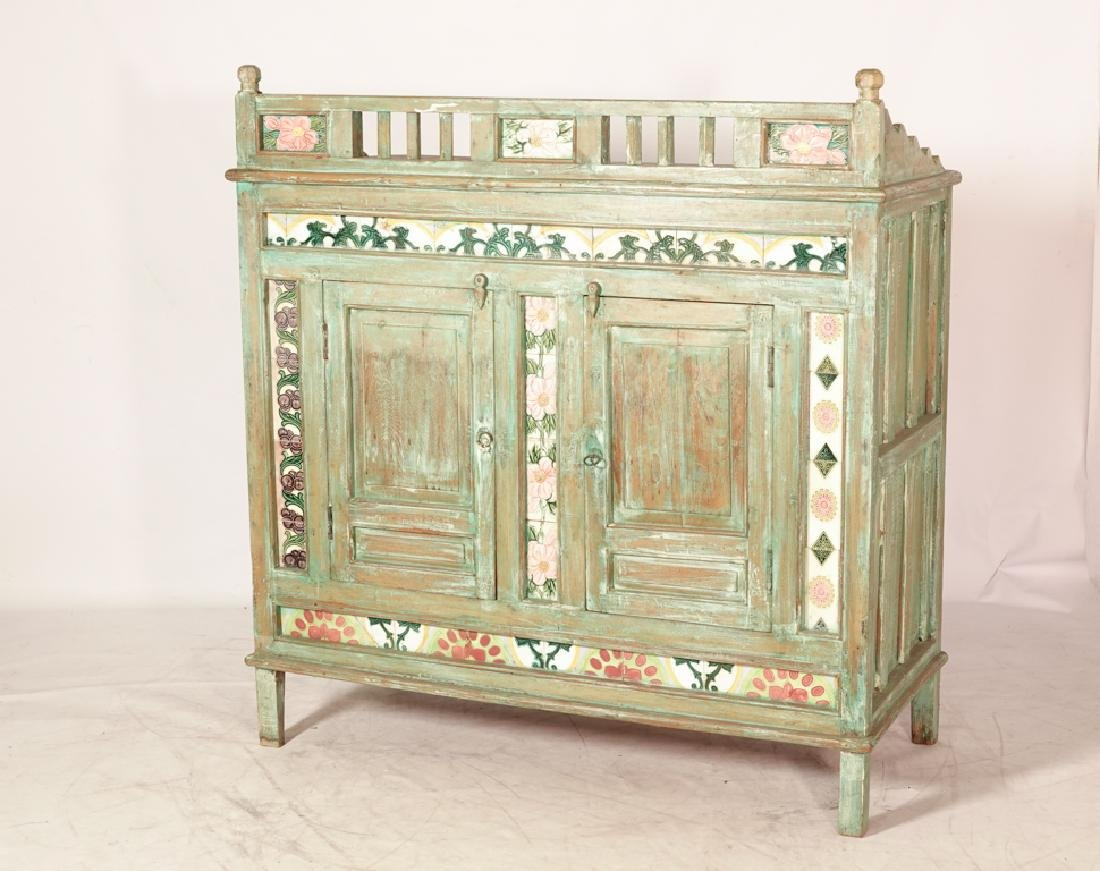 Mexican Painted Cabinet - 2