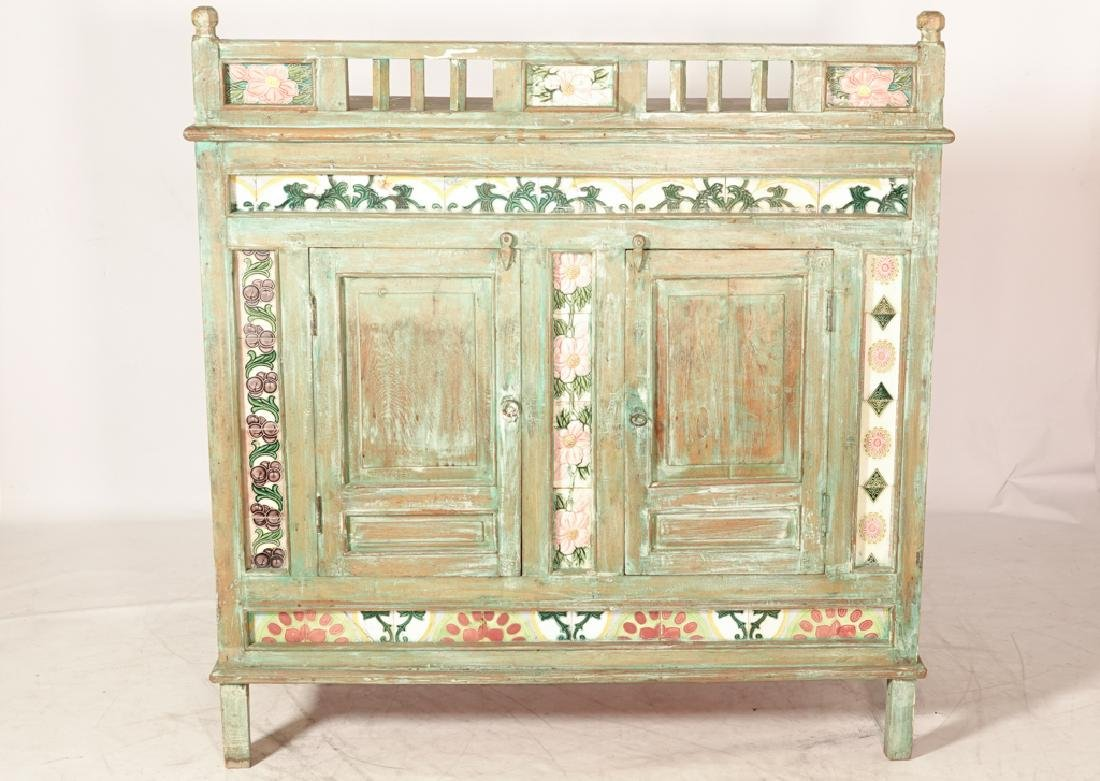 Mexican Painted Cabinet - 4