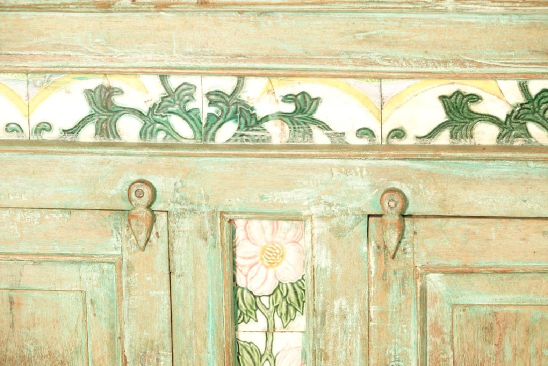 Mexican Painted Cabinet - 5