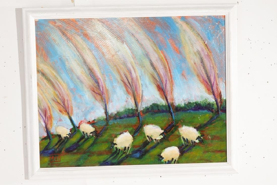 Contemporary School, Sheep In the Field