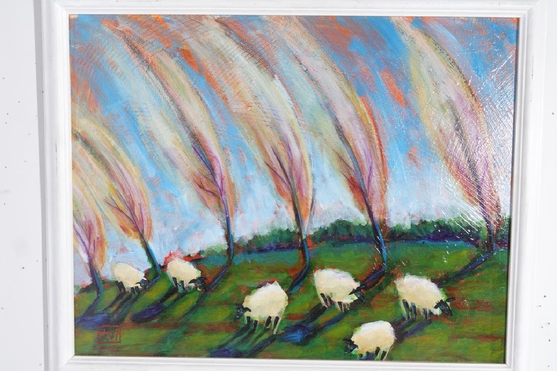 Contemporary School, Sheep In the Field - 6