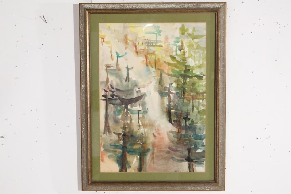 "Shin Hai Jai, ""Autumn Leaf"" Chinese Watercolor"