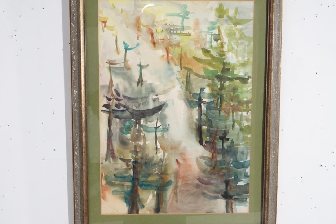 "Shin Hai Jai, ""Autumn Leaf"" Chinese Watercolor - 6"
