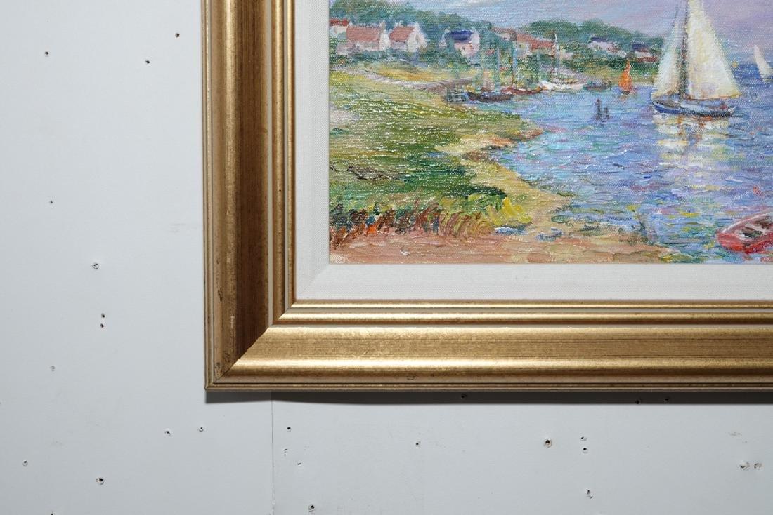 "Jane Armin Hunt, ""Sailboats in the Bay"" - 10"