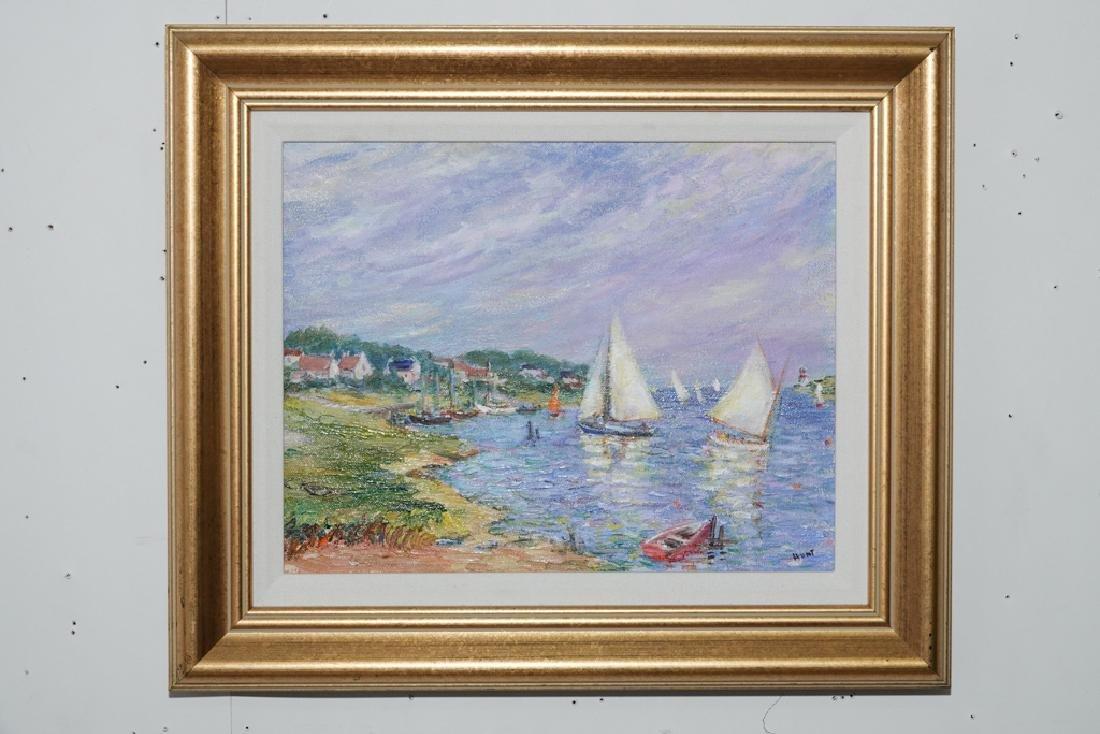 "Jane Armin Hunt, ""Sailboats in the Bay"""