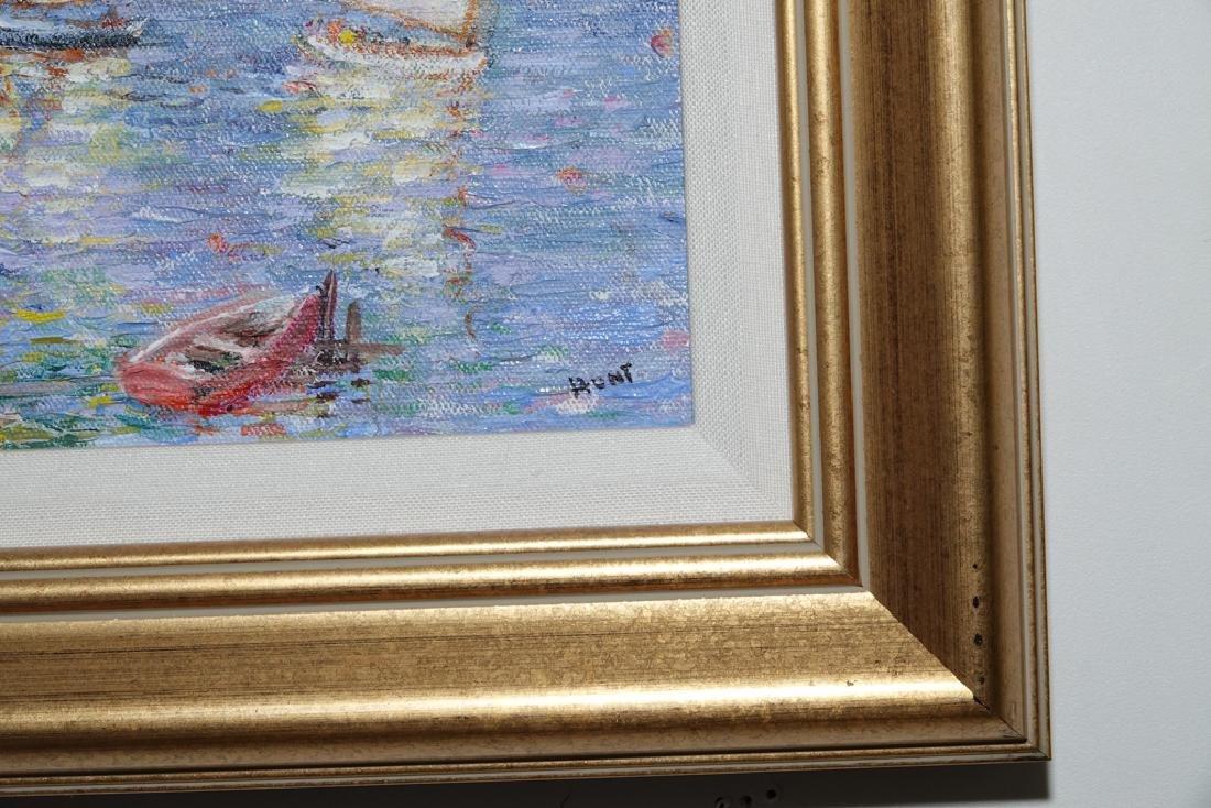 "Jane Armin Hunt, ""Sailboats in the Bay"" - 2"