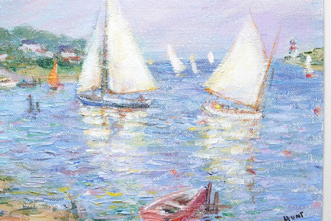 "Jane Armin Hunt, ""Sailboats in the Bay"" - 4"