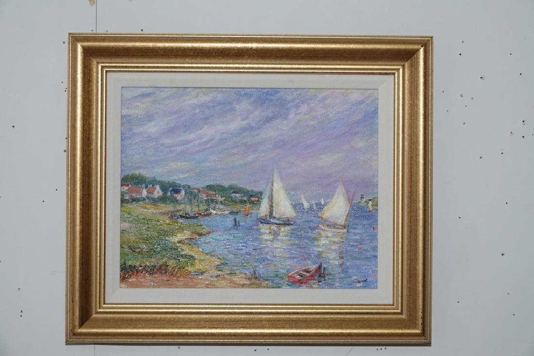 "Jane Armin Hunt, ""Sailboats in the Bay"" - 8"