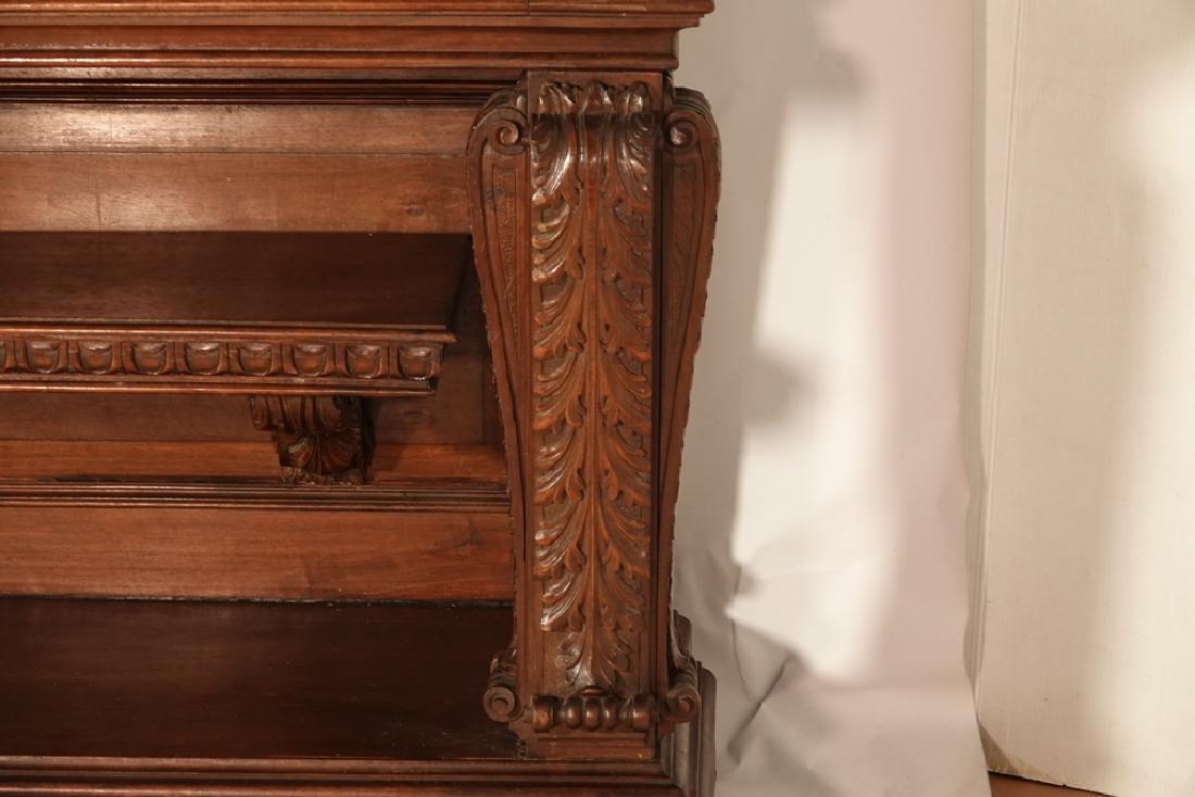 Monumental Tuscan Style Oak Credenza - 7