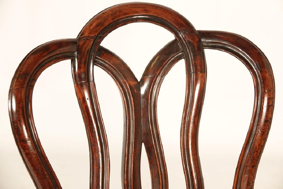 Pair of Antique Italian Ribbon Back Side Chairs - 6