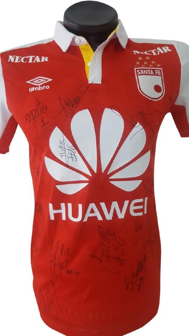 Luis Manuel Seijas Santa Fe Jersey w/ Signatures