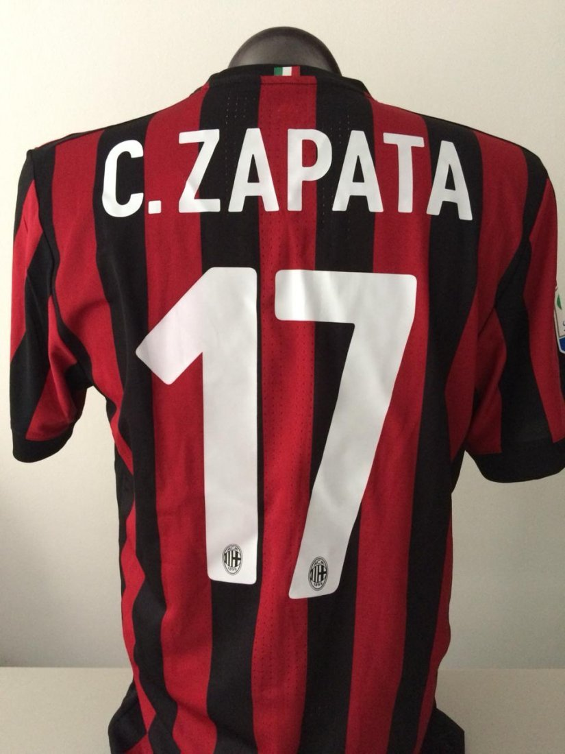 Cristian Zapata #17 Milan Autographed Jersey - 2