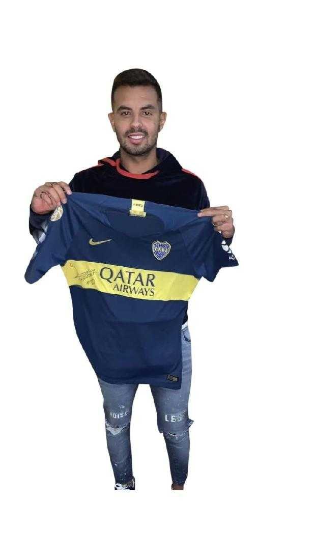 Edwin Cardona #10 Boca Juniors Autographed Jersey