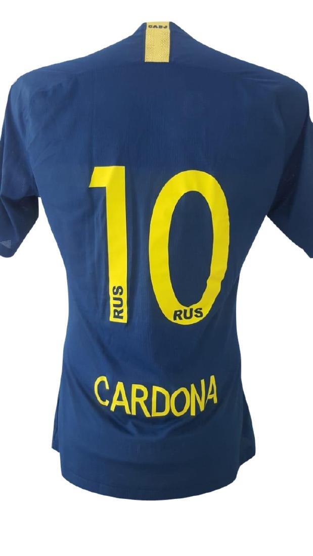 Edwin Cardona #10 Boca Juniors Autographed Jersey - 3