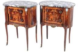 Pair Louis XV Style Kidney Shaped Tables