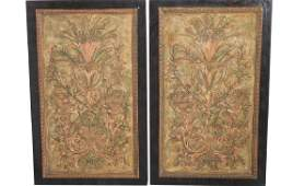Pair Decorative Carved Panels