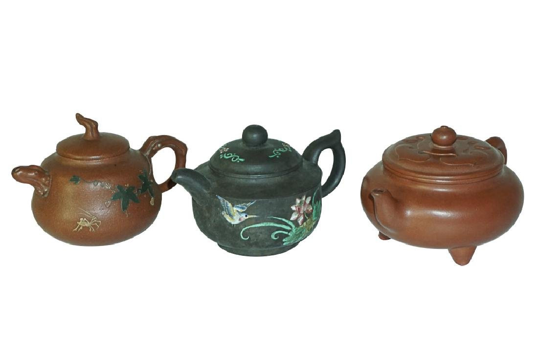 Three Chinese Teapots