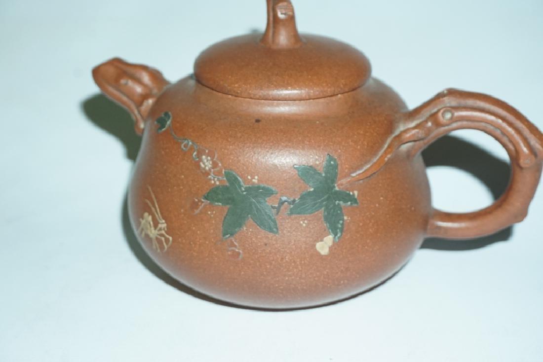 Three Chinese Teapots - 8