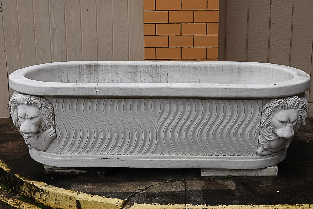 Magnificent Carved Marble Bathtub
