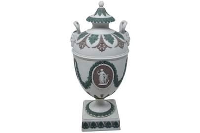 Antique Tri-Color Wedgwood Urn