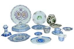 Vintage Blue  White Porcelain Serving Piece
