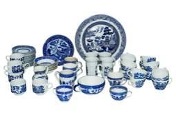 Group Lot Vintage Blue & White China