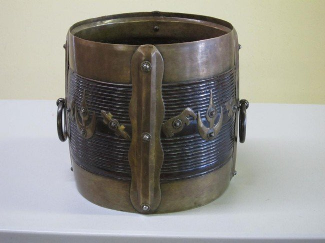 3: ANTIQUE CHINESE RICE BUCKET: