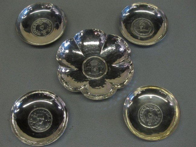 16: GROUP OF 5 SILVER DISHES:
