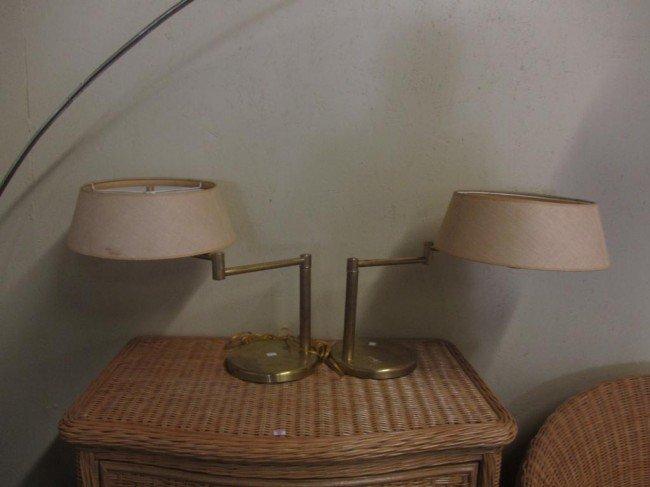 3: PAIR NESSEN MID CENTURY LAMPS: