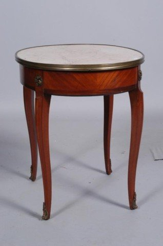 11: FRENCH CIRCULAR MARBLE TOP STAND: