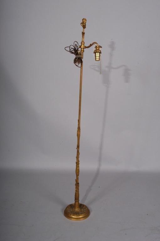 19: FINE QUALITY BRONZE FLOOR LAMP: