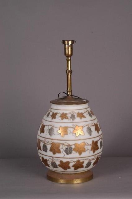 20: GLASS LAMP: