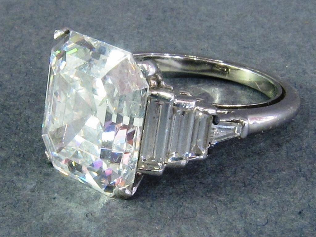 201: 8.91 CARAT GIA CERTIFIED EMERALD CUT DIAMOND: