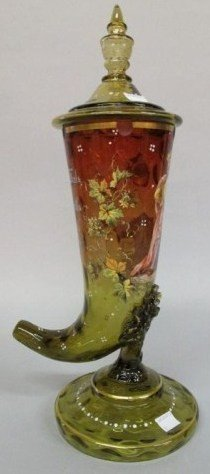 7: VENETIAN COLORED GLASS DRINKING CUP: