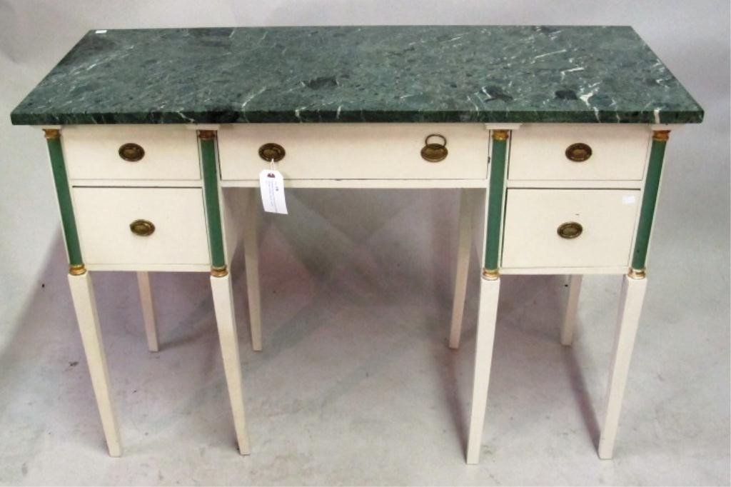 18: EMPIRE MARBLE TOP LADIES DRESSING TABLE: