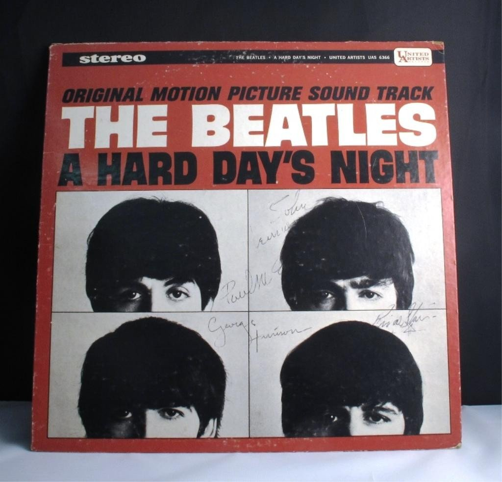 142: SIGNED BEATLES RECORD SLEEVE: