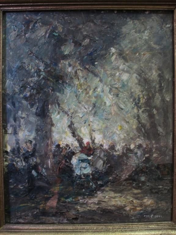 145A: PIPPEL OTTO (German, 1878  - 1960) OIL ON CANVAS: