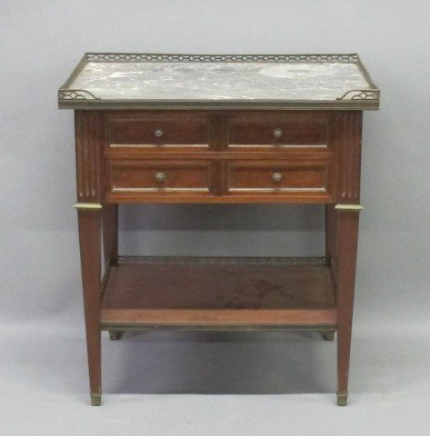 MARBLE TOP STAND: