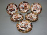 ROYAL CROWN DERBY IMARI PORCELAIN SET: