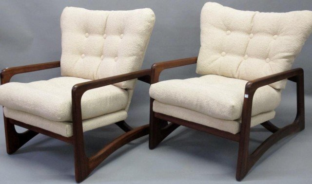 PAIR ADRIAN PEARSALL MID CENTURY CHAIRS: