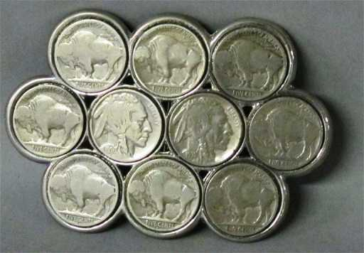 Buffalo Head Nickel Belt Buckle