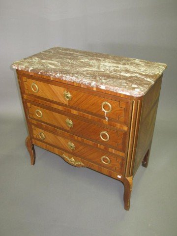 13: MARBLE TOP CHEST: